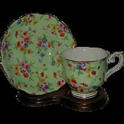 Royal Albert - Floral Chintz on Green - Teacup Set