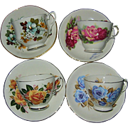 SALE English Fancy Teacup Collection (4)