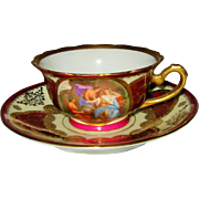 Royal Vienna - Garden Scene w/Golden Filigree - Teacup Set