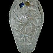 "Stunning - Bohemia Cut Crystal - Large Vase 10"""