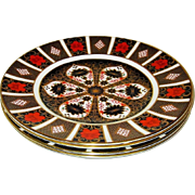 Royal Crown Derby - Old Imari 1128 - Set of 4 Dinner Plates