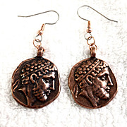 Wannabe Reversible Copper Earrings, 2-1/8 Inches