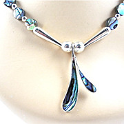 Abalone Shell Necklace, 19-1/2 Inches
