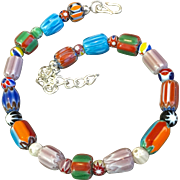 Trade Bead Anklet, 9-3/8 to 11-1/8 Inches