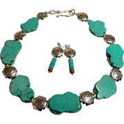 SW Turquoise Choker, 17 Inches