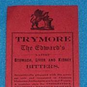 Trymore Bitters Bottle Label