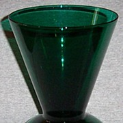 Anchor Hocking Forest Green Large Glass Vase