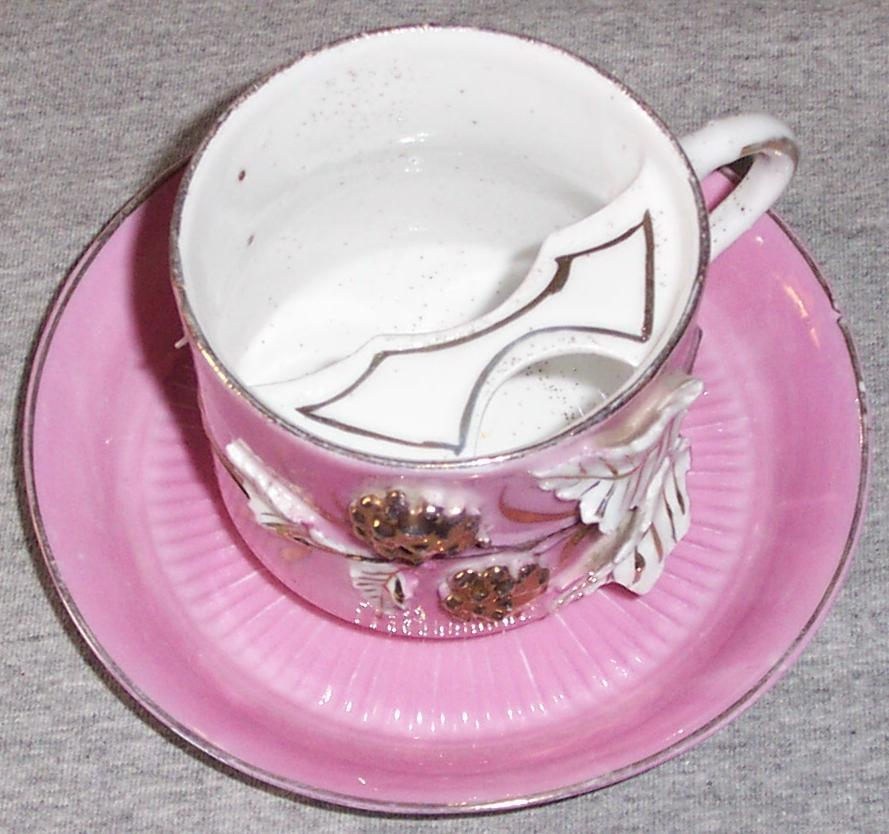 Antique Mustache Cup With Saucer From Autumnantiques On