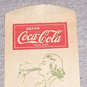 Vintage Coca Cola Dry Server Woman Drinking