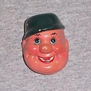 Vintage Figural Face Pencil Sharpener