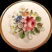 Evans Enamel Rose Floral Powder Compact
