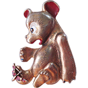 1940's Teddy Bear Figural Pin Book Piece