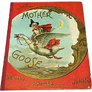 Rare 1898 Ideal Mother Goose Rhymes Chimes & Jingles Book