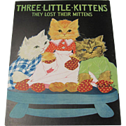 1931 Three Little Kittens Children's Book