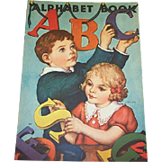 1939 ABC Alphabet Children's Book by Whitman Publishing