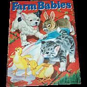 1940 Farm Babies Book Merrill Publishing Co.