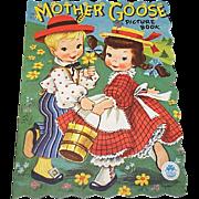 Vintage Mother Goose Picture Children's Book