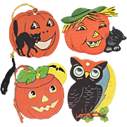 Four Small Halloween Cut Outs 2 Tallies