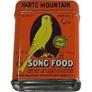 Hartz Mountain Song Food Tin