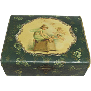 Celluloid Dresser Box Little Girl Cherubs