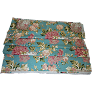 SOLD Floral Screen Print Yardage Fabric By Atelier Originals