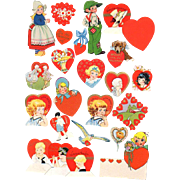 Package 24 Small Die-Cut Valentine Decorations