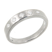 SALE Scott Kay Contemporary Collection Mens Platinum Diamond Wedding Band Ring