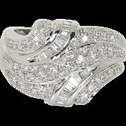 SALE Estate 14kt 14 kt White Gold 1.20 Ct Diamond Cocktail Fashion Ring
