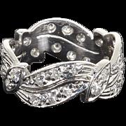 SALE Beautiful Estate Platinum 1.00 Carat Diamond Wedding Anniversary Band Ring