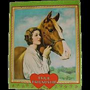 SALE Vintage Art Deco Flapper Girl Lady & Horse In the Land of Sunshine Irene Patten ...