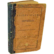 SALE Antique 1849 The United States Arithmetic Math Book Vodges Leather Mathematics School ...