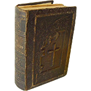 SOLD Beautiful Miniature Dutch Netherlands Prayer Book Bible 1889 Victorian Heavily Embossed L