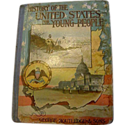 SALE 1889 History of the United States for Young Americans 230 Illustrations Victorian Book Co