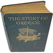 SOLD Antique Edwardian Book The Story of Greece Mary MacGregor 19 Full Page Color Plate Illust