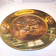 Vienna Art Plate - 1905 - Founding of Jamestown Virginia - Pocahontas