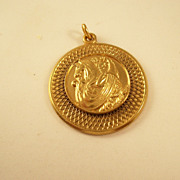 Vintage Mardi Gras Favor - Krewe of Okeanos 15th anniversary gold plated charm - 1964