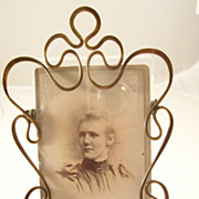 Wonderful Victorian Brass Photo Frame - all original