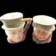 Beswick Toby Creamer & Sugar Set