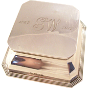 Gorgeous Antique Sterling Silver Inkwell - London, 1905 - Heath & Middleton