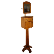 REDUCED Quartersawn Oak Swing Mirror Shaving Stand