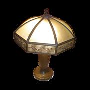 Large Bradley & Hubbard Slag Glass Lamp