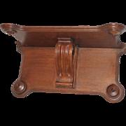 Carved Oak Clock Shelf