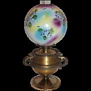 Wonderful RARE Bradley Hubbard Dragon Handled Banquet Oil Lamp ~Original Hand Painted Masterpi