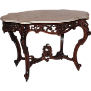 SALE WOW!! OUTSTANDING 1850's Rococo Rosewood Victorian Center Table attrib. to Joseph Meeks ~