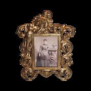 Antique  American Victorian Rococo Brass Ornate Picture Frame ~ Circa 1890's~ Original ...