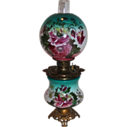 SALE BEAUTIFUL Gone with the Wind Kerosene Banquet Lamp ~Masterpiece Breathtaking BEAUTY WITH