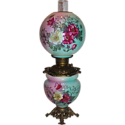 SALE BEAUTIFUL Gone with the Wind Kerosene Banquet Lamp ~Masterpiece Breathtaking BEAUTY WITH
