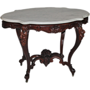 WOW!! OUTSTANDING 1850's Rococo Rosewood Victorian Center Table  ~ RARE SIZE & SHAPE ~ Lar