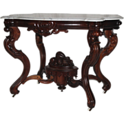 REDUCED HISTORICALLY VERY IMPORTANT 1860's Rococo Rosewood Victorian Center Table ~ Made by  .