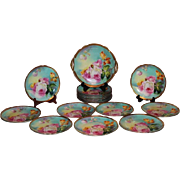OUTSTANDING LIMOGES FRENCH TEA ROSES ANTIQUE 19 Piece Lunch or Desert Service Set ~ All ...